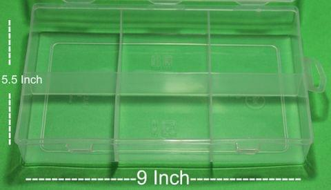 Acrylic Beads Storage Box 6 Cavity 2 Pcs, 9x5.5 Inch