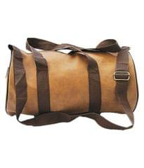 TDL Brown Leather Sports and Duffle Fitness Gym Bag