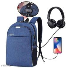 Business Laptop Water Resistant Anti-Theft Backpack with USB Charging Port and Lock 15.6 Inch Computer Backpacks for unisex (Blue)