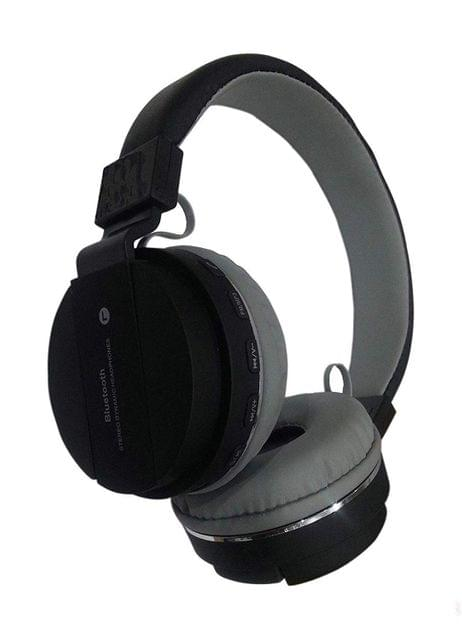 Wireless & Bluetooth Headphone with FM and SD Card Slot dsh 147 with Music and Calling Controls (Black)