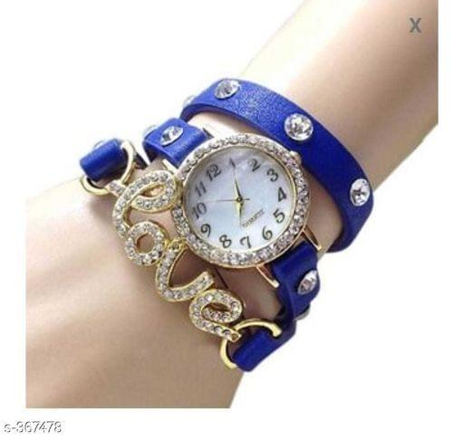 Elegant Woman's Watch Love (Blue)