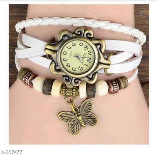 Elegant Woman's Watch Butterfly (White)