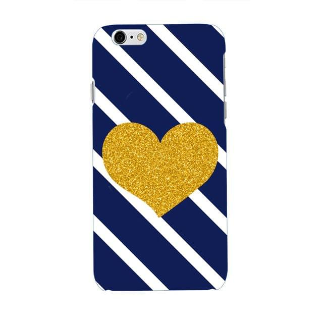 Golden Heart With Stripes Case