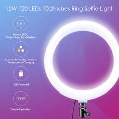DC5V 12W 120 LEDs 10.2Inches R-ing Selfie Light Round Camera - type 2