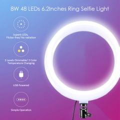 DC5V 8W 48 LEDs 6.2Inches R-ing Selfie Light Round Camera - type 1