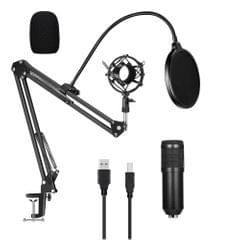 USB 192kHZ/24bit Podcast Recording Microphone Kit