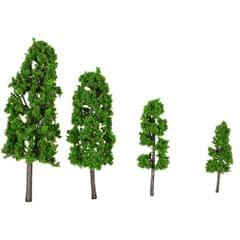 20 Pieces Green Pagodo Tree Model Train Layout Garden - Pack of 20