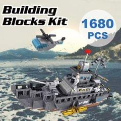 9910-1 Military Model Aircraft Carrier Atomic Building