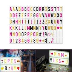 102pcs Colorful Interchangeable Letters Numbers Symbols - Letters