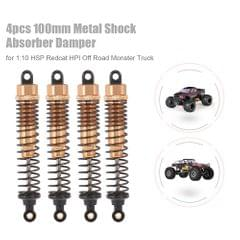 4pcs RC Car Parts 100mm Metal Shock Absorber Damper for 1:10