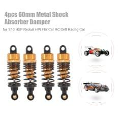 4pcs RC Car Parts 60mm Metal Shock Absorber Damper for 1:10