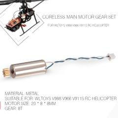 Coreless Main Motor Gear set RC Helicopter Part for WLtoys