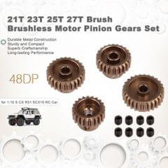 48DP 21T 23T 25T 27T Brush Brushless Motor Pinion Gears Set