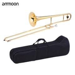ammoon Alto Trombone Brass Gold Lacquer Bb Tone B flat Wind