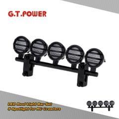 G.T.POWER LED Roof Light Bar Set 5 Spotlight for 1/10 RC