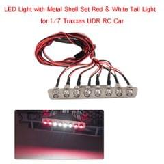 LED Light with Metal Shell Set Red & White Light for 1/7