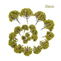 20pcs Mini Plastic Green Trees Scale Architectural Models - 2