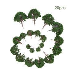 20pcs Mini Plastic Green Trees Scale Architectural Models - 1