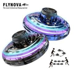 Flynova UFO Fingertip Upgrade Flight Gyro Flying Spinner - Black&Blue