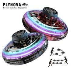 Flynova UFO Fingertip Upgrade Flight Gyro Flying Spinner - Red&Black