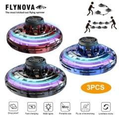 Flynova UFO Fingertip Upgrade Flight Gyro Flying Spinner - 3PCS