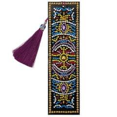 5D Special Shaped Diamond Leather Book Marker with Tassel - 8