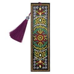 5D Special Shaped Diamond Leather Book Marker with Tassel - 7