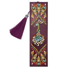5D Special Shaped Diamond Leather Book Marker with Tassel - 6