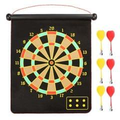 17-inch Magnetic Dart Board Darts  Double Sided Rollup - 17 inch