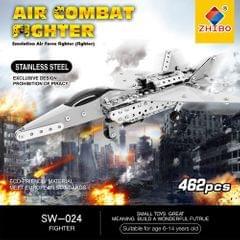 462Pcs Fighter Intelligent Construction Set 3D Stainless