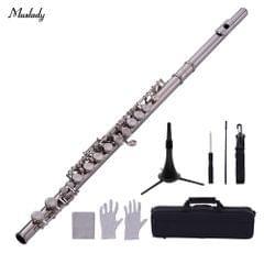 Muslady 16-Hole Flute C Key Cupronickel Material Silver
