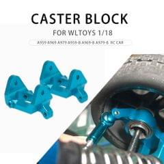 2PCS Front Caster Block Metal C-hub 1/18 RC Car Parts for