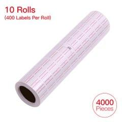 10 Rolls 4000 Pieces Labels Paper White Label Sticker for