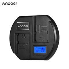 Andoer Fast Battery Charger Dual-channel Camera Battery