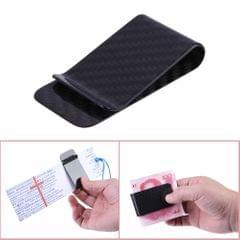 Real Carbon Fiber Money Clip Business Card Credit Card Cash - 1