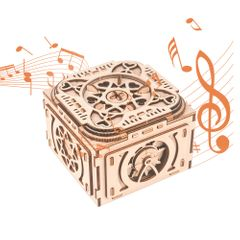 3D Wooden Puzzle Music Box with Hidden Compartments Jewelry