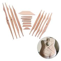 17pcs Guitar Sound Beam Kit Spruce Wood for 41inch Acoustic