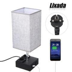 Lixada Pulling Switch Bedside Table Lamp Dual 2.1A USB - EU Plug