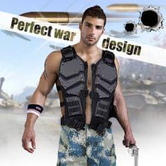 Outdoor Game Hunting Combat Body Black And Tan Color Armor