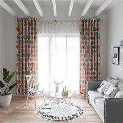 Fashionable Simple Circles Pattern Curtain Living Room