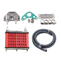 Universal Motorcycle Engine Oil Cooler Cooling Radiator For