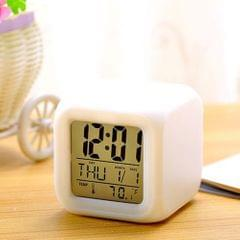 Multi-function 7 Changing Colors LED Digital Alarm Clock