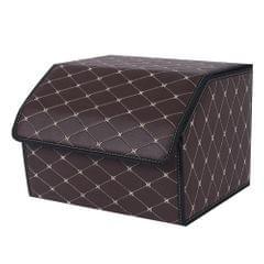 Folding Auto Storage Case Leather Detachable Large Capacity