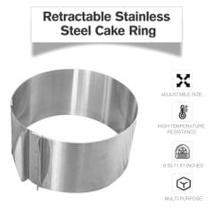 Retractable Stainless Steel Cake Ring Circle Cake Baking