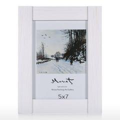 Wood Photo Framework Real Glass Display Picture Framework
