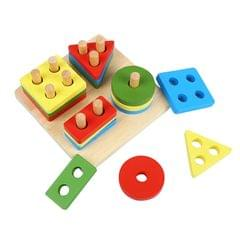 Wooden Puzzle Blocks Kids Toddler Puzzle Geometry Toys