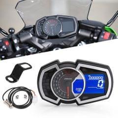 Motorcycle Odometer Speed Fuel Gauge 13000RPM Universal for