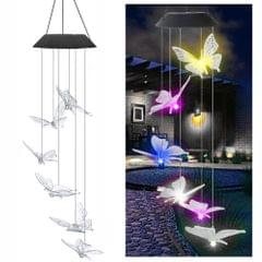 Solar Energy Powered Wind Chime Lamp Color-changing