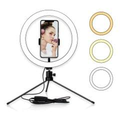 10inch Table LED Ring Light 3200-5600K 3 Colors 10 Levels