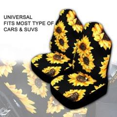 2 Pcs Sunflower Printed  Seat Covers fitment for Cars,